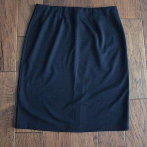 Jones Studio Black Skirt with Back Slit Size 12